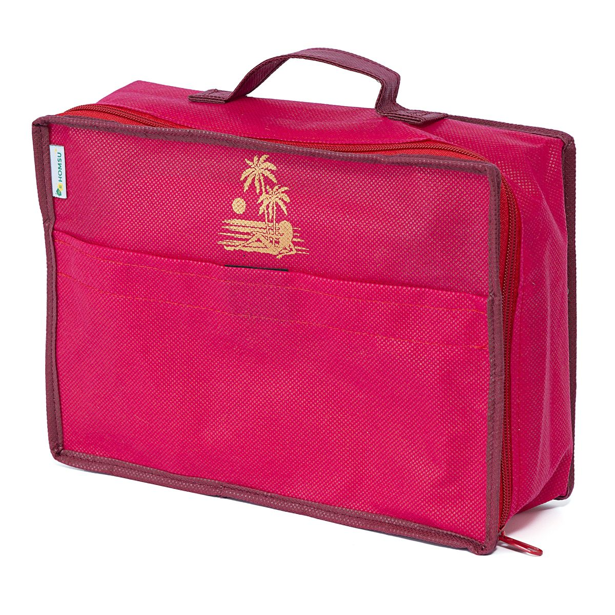 Сумка для багажа Homsu Lady in Red, 28 х 20 х 9 смВСП 6Сумка для багажа Homsu Lady in Red выполнена из спанбонда и картона. Вместе с оригинальным современным дизайном такая сумка для багажа принесёт также очень существенную практическую пользу в любом путешествии. Благодаря ей вы сможете распределить все вещи, которые возьмёте с собой, таким образом, что всегда будете иметь быстрый доступ к ним, и при этом надёжно защитить от пыли, грязи, влажности или механических повреждений.