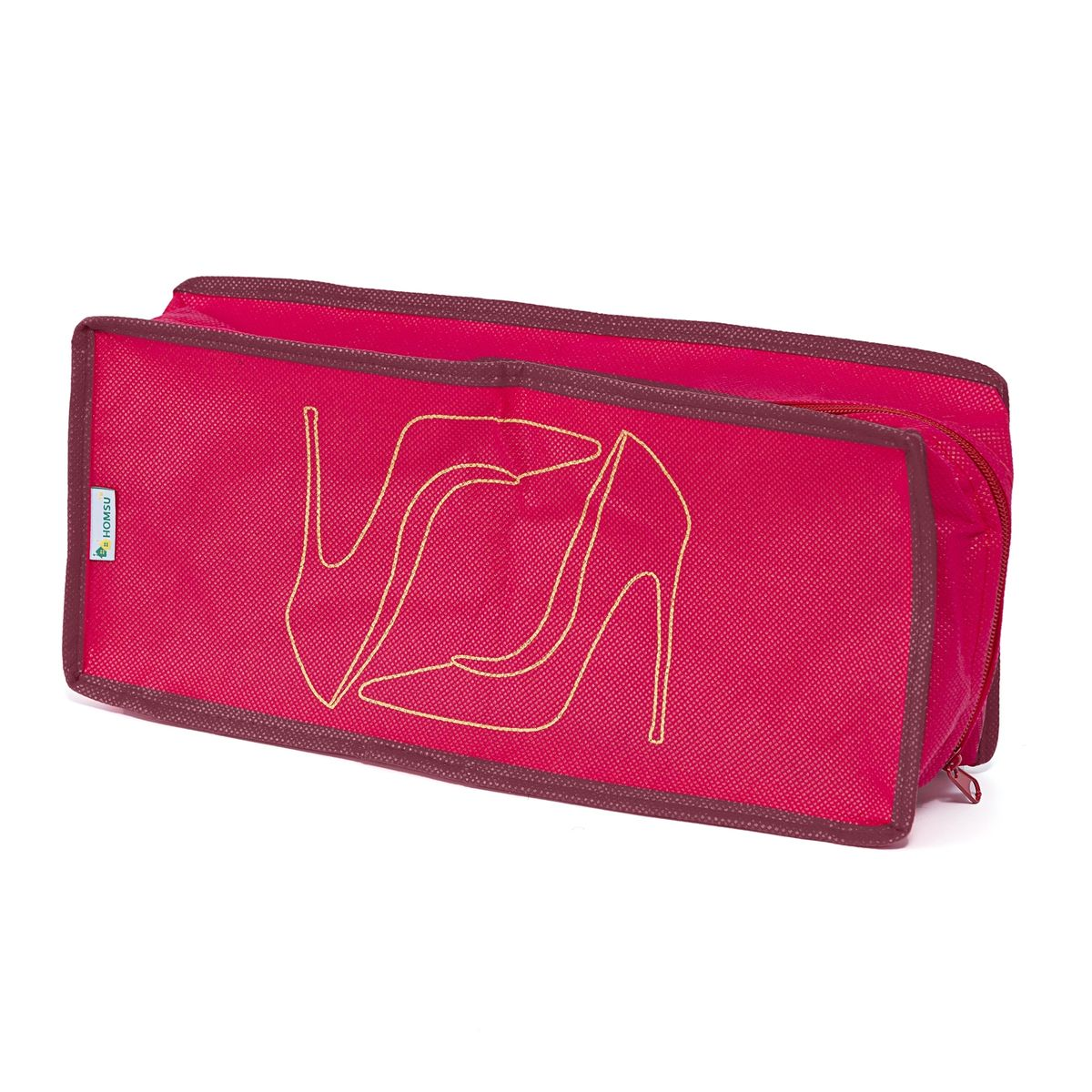 Органайзер для обуви Homsu Lady in Red, 35 х 15 х 11 смMW-3101Органайзер для обуви Homsu Lady in Red выполнен из спанбонда и картона. Органайзер для обуви удобно вмещает в себя одну пару обуви, он не проницаемый для влаги и грязи и поможет полноценно сберечь вашу обувь как в домашнем хранении, так и во время транспортировки.