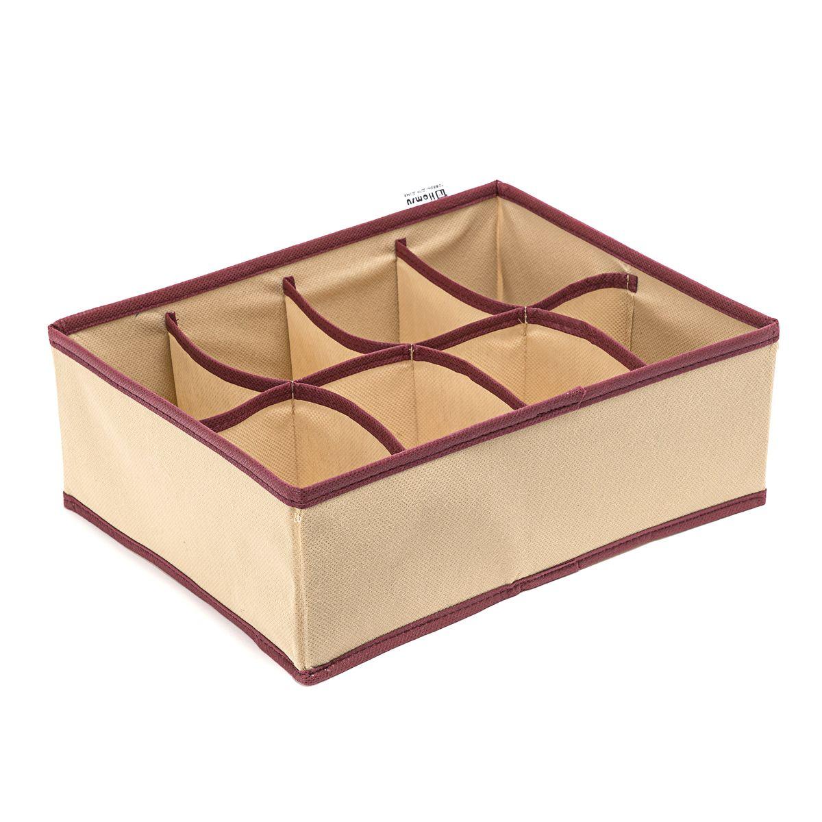 Органайзер Homsu Comfort, цвет: бежевый, 31 x 24 x 11 см. HOM-678HOM-678Органайзер Homsu  Comfort выполнен из спанбонда и поливинилхлорида. Прямоугольный, плоский органайзер имеет 8 раздельных ячеек, очень удобен для хранения вещей среднего размера в вашем ящике или на полке. Идеально для белья, шапок, рукавиц и других вещей ежедневного пользования. Имеет жесткие борта, что является гарантией сохранности вещей.