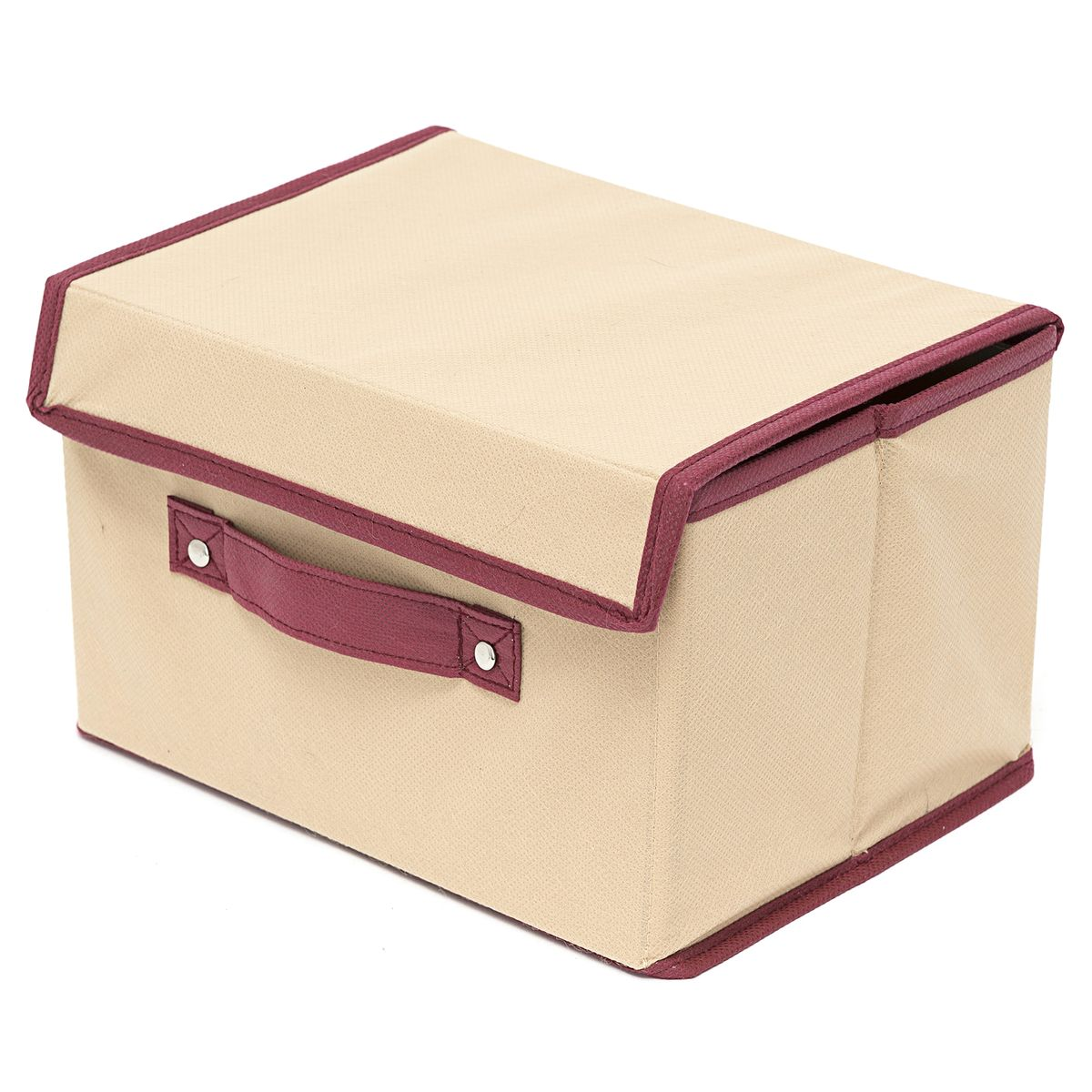 Коробка для хранения Homsu Comfort, с крышкой, цвет: бежевый, 38 x 25 x 25 см6113MКоробка для хранения Homsu  Comfort изготовлена из поливинилхлорида и спанбонда. Изделие легко и быстро складывается. Оптимальный размер позволяет хранить в ней любые вещи и предметы. Изделие имеет жесткие борта и крышку, что является гарантией сохранности вещей. Коробка дополнена ручкой.