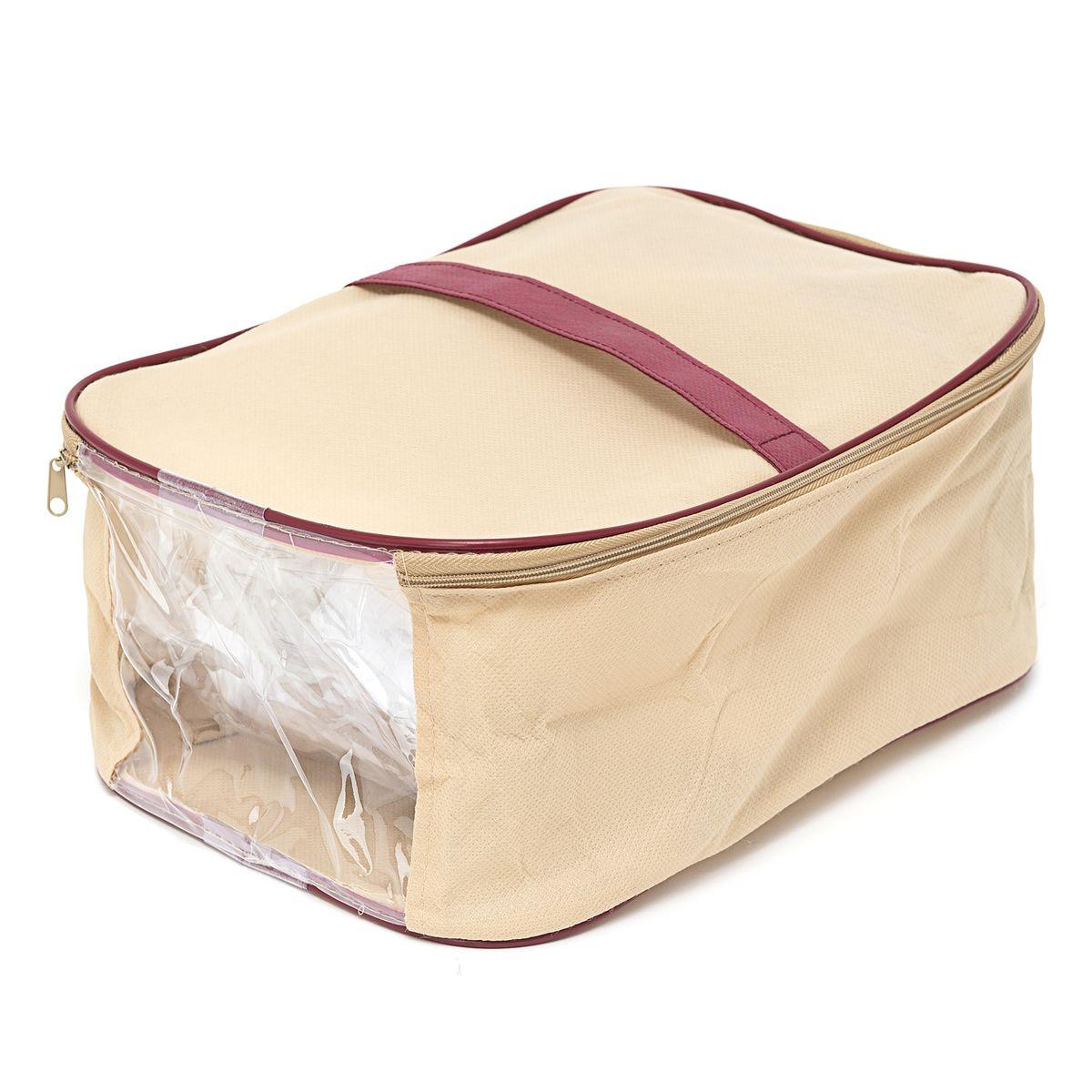 Сумка для обуви Homsu Comfort, цвет: бежевый, 36 x 16 x 23 смHOM-684Сумка для обуви Homsu Comfort выполнена из спанбонда и поливинилхлорида. Удобная сумка для хранения и перевозки обуви дополнена крышкой с застежкой-молнией. В сумке имеется удобное окошко, через которое всегда можно увидеть, что находится внутри. Изделие дополнено ручкой для удобства переноски.