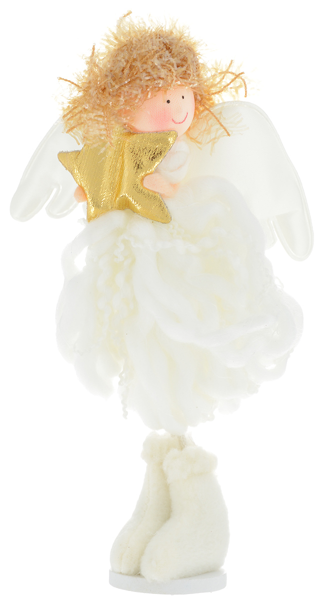 Украшение новогоднее декоративное Winter Wings Ангел, длина 19 смN07926Декоративное украшение Winter Wings Ангел отлично подойдет для декора интерьера. Изделие выполнено из полимерного материала и полиэстера. Такое украшение дополнит интерьер вашего дома, а также может стать оригинальным сувениром для ваших друзей и близких.Размер украшения: 19 х 10 х 3 см.