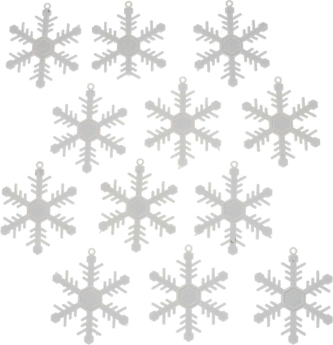 Украшение новогоднее подвесное Winter Wings Снежинки, диаметр 6,5 см, 12 штDP-C30-016Набор украшений Winter Wings Снежинки прекрасно подойдет для праздничного декора новогодней ели. Изделия выполнены из высококачественного пластика в виде снежинок. Для удобного размещения на елке на украшениях предусмотрены веревочки.Елочная игрушка - символ Нового года. Она несет в себе волшебство и красоту праздника. Создайте в своем доме атмосферу веселья и радости, украшая новогоднюю елку нарядными игрушками, которые будут из года в год накапливать теплоту воспоминаний. Откройте для себя удивительный мир сказок и грез. Почувствуйте волшебные минуты ожидания праздника, создайте новогоднее настроение вашим дорогим и близким.