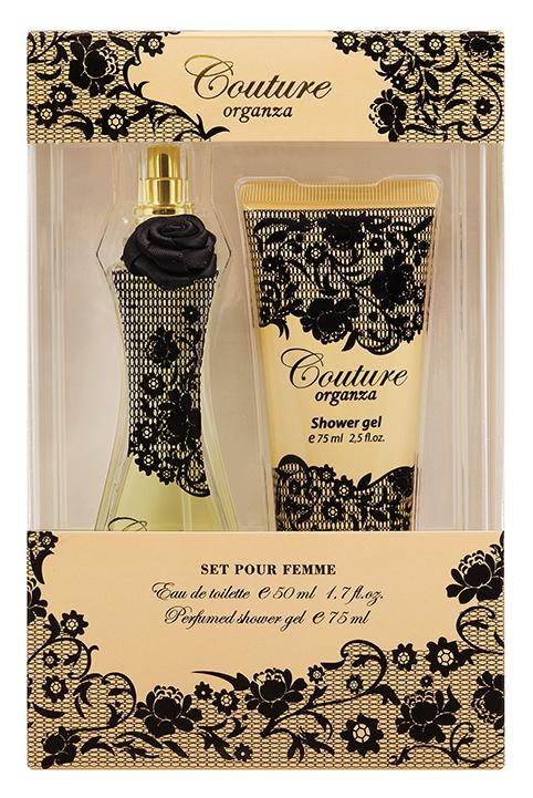 Apple Parfums Подарочный набор Couture Organza женский: туалетная вода, 50 мл, гель для душа 75млMM-3000В_черныйПодарочный набор для женщин : туалетная вода 50мл, парфюмированный гель для душа 75мл.Аромат: Ориентальный.