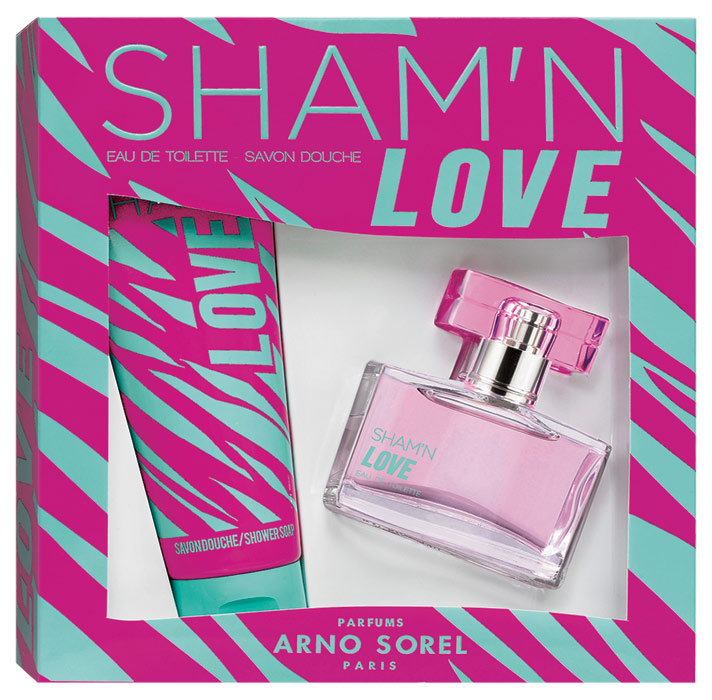 Corania Подарочный набор Sham'n Love женский: Туалетная вода, 50мл, гель для душа 100млFS-00897Подарочный набор для женщин : туалетная вода 50мл, парфюмированный гель для душа 100 мл.Аромат: Фруктовый.