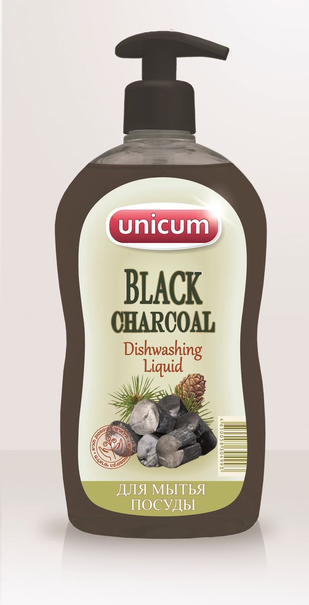 Средство для мытья посуды Unicum Черный уголь, 550 мл черный уголь