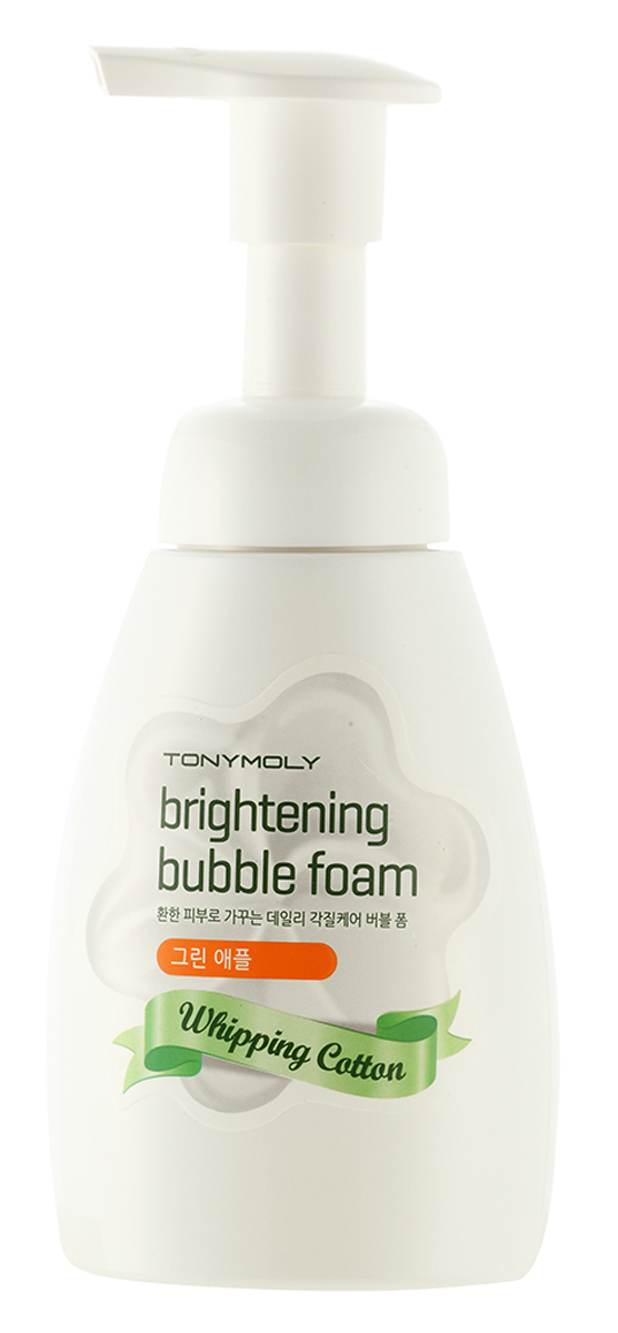 TonyMoly Очищающая пенка для лица Whipping Cotton Brightening Bubble Foam, 200 мл tonymoly пенка для лица hemp seed calming cleansing foam 150 мл