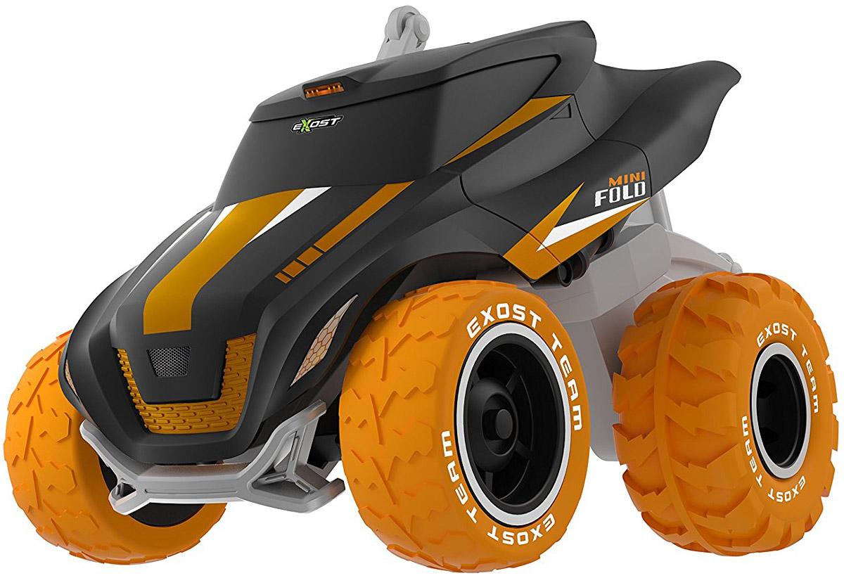 """Машинка на радиоуправлении Silverlit """"Mini Fold"""" оснащена подвижной подвеской, которая позволяет поднимать и опускать корпус автомобиля над колёсами во время движения. Таким образом, """"Mini Fold"""" может принять форму гоночной машины и развивать скорость до 7 км/ч. Если приподнять корпус повыше, автомобиль становится суперпроходимым внедорожником. Можно поднять только переднюю или только заднюю сторону корпуса. Трансформация позволяет игрушке совершать необычные маневры, на которые не способна обычная радиоуправляемая машина. Джип в масштабе 1:20 может даже вставать на дыбы, при этом он не опрокидывается, так как сзади установлены специальные упоры. Для работы игрушки необходимы 6 батареек типа АА напряжением 1,5V (не входят в комплект). Для работы пульта управления необходима 1 батарейка типа """"Крона"""" напряжением 9V (не входят в комплект)."""