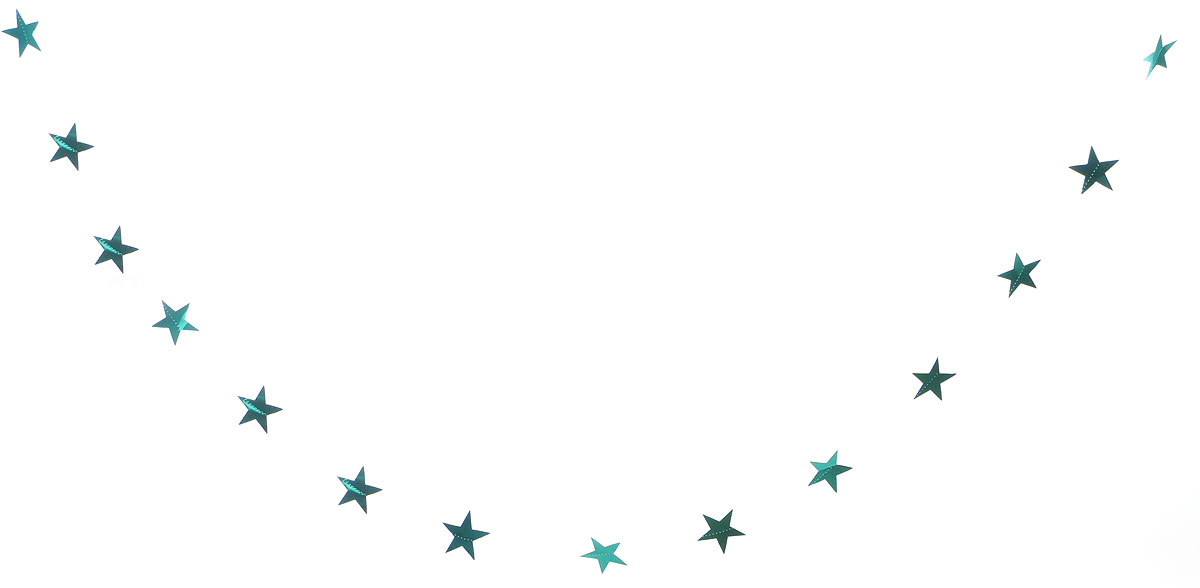 Гирлянда декоративная Winter Wings Звездочки, цвет: бирюзовый, 8 см х 2,7 мN07285/9Новогодняя декоративная растяжка Winter Wings Звездочки прекрасно подойдет для декора дома и праздничной елки. Украшение выполнено из ПВХ. С помощью пластиковых колец растяжку можно повесить в любом понравившемся вам месте.Новогодние украшения несут в себе волшебство и красоту праздника. Они помогут вам украсить дом к предстоящим праздникам и оживить интерьер по вашему вкусу. Создайте в доме атмосферу тепла, веселья и радости, украшая его всей семьей.