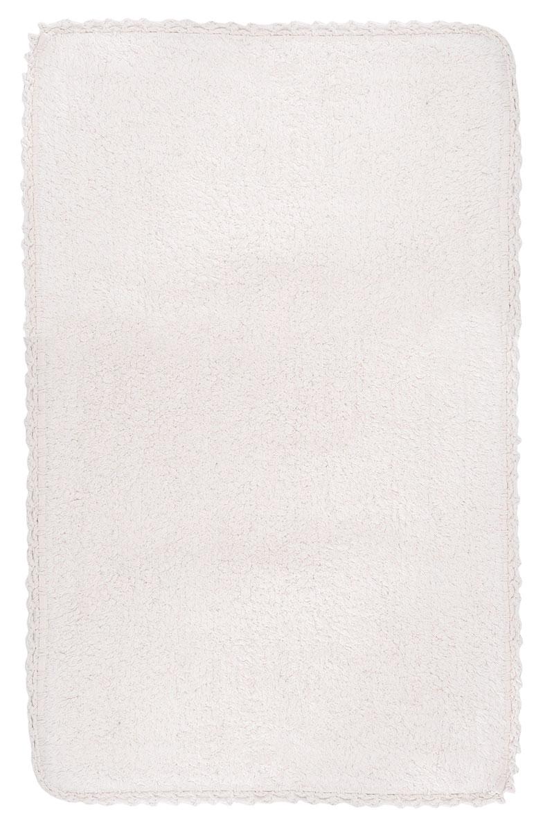 Коврик для ванной Modalin Hacri, цвет: бежевый, 50 х 80 см391602Коврик для ванной Modalin Hacri выполнен из высококачественного хлопка. Изделие долго прослужит в вашем доме, добавляя тепло и уют, а также внесет неповторимый колорит в интерьер ванной комнаты. Кромка выполнена под кружево.