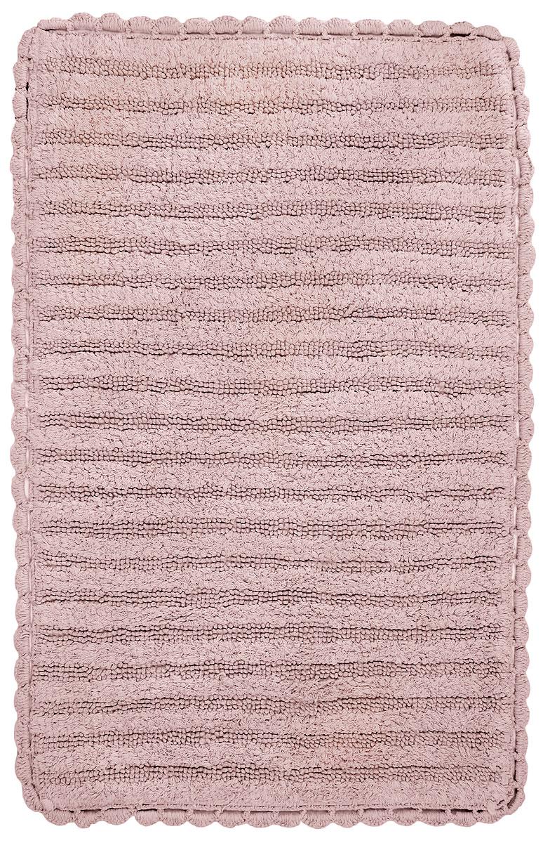 Коврик для ванной Modalin Milda, цвет: розовый, 60 х 95 см12723Коврик для ванной Modalin Milda выполнен из высококачественного хлопка. Изделие долго прослужит в вашем доме, добавляя тепло и уют, а также внесет неповторимый колорит в интерьер ванной комнаты. Кромка выполнена под кружево.