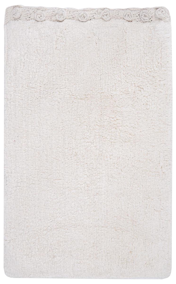 Коврик для ванной Modalin Nuela, цвет: кремовый, 50 х 80 см18420_серый-полоскаКоврик для ванной Modalin Nuela выполнен из высококачественного хлопка. Изделие долго прослужит в вашем доме, добавляя тепло и уют, а также внесет неповторимый колорит в интерьер ванной комнаты. Один бок коврика украшен рельефом в виде цветов.