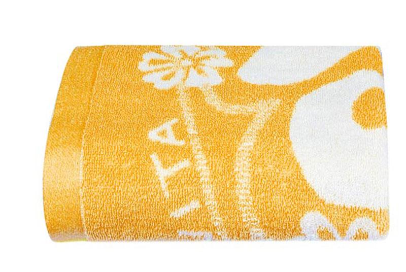 Полотенце Soavita Цветы, цвет: оранжевый, белый, 68 х 135 см1004900000360Банное полотенце Soavita Цветы выполнено из 100% хлопка с мягким ворсом и оформлено цветочным принтом. Изделие отлично впитывает влагу, быстро сохнет, сохраняет яркость цвета и не теряет форму даже после многократных стирок. Полотенце очень практично и неприхотливо в уходе. Оно создаст прекрасное настроение и украсит интерьер в ванной комнате.Перед использованием постирать при температуре не выше +40°С.