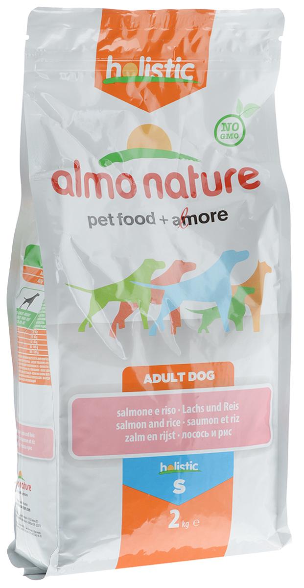 Корм сухой Almo Nature для взрослых собак, с лососем и рисом, 2 кг0120710Корм сухой Almo Nature представляет собой полноценное питание для взрослых собак. Высокое содержание свежего лосося делает этот продукт более привлекательными для собак и повышает усвояемость. Товар сертифицирован.
