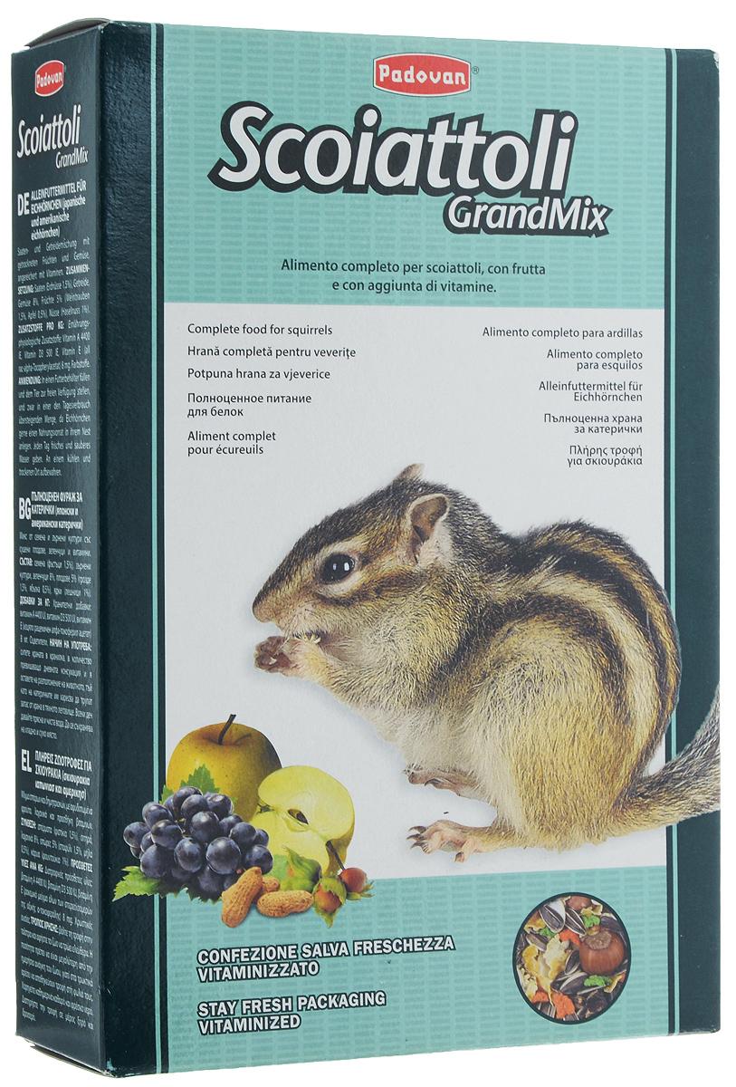 Корм Padovan Grandmix Scoiattoli для белок, 750 г0120710Комплексный, высококачественный основной корм Padovan Grandmix Scoiattoli подходит для белок. Корм обогащен фруктами и овощами, витаминами и минералами. Padovan Grandmix Scoiattoli для шустрых грызунов с высоким содержанием углеводов, обеспечит ваших любимцев необходимым запасом энергии и удовлетворит их потребности в движении и играх.Товар сертифицирован.