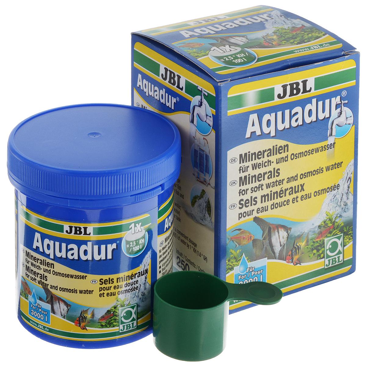 Набор минеральных солей JBL Aquadur, для увеличения KH и стабилизации pH, с мерной ложкой, 250 гJBL2490200JBL Aquadur - это смесь минералов, которая содержит вещества, выравнивающие как карбонатную, так и общую жесткость воды. Состав смеси ориентируется на распределение ионов во многих тропических водоемах. JBL Aquadur отлично подходит для надежного повышения карбонатной и общей жесткости воды любой степени мягкости. Тем самым повышается буферная емкость, что стабилизирует значение ph и предотвращает его падение до опасного уровня.Другие микроэлементы, незаменимые прежде всего для микроорганизмов, важных для аквариума, превращают мягкую воду, подготовленную с помощью средства JBL Aquadur, в идеальную исходную воду для содержания и разведения всех видов аквариумных рыб.Набор рассчитан на 3000 л аквариумной воды. В комплект входит мерная ложка. Товар сертифицирован.