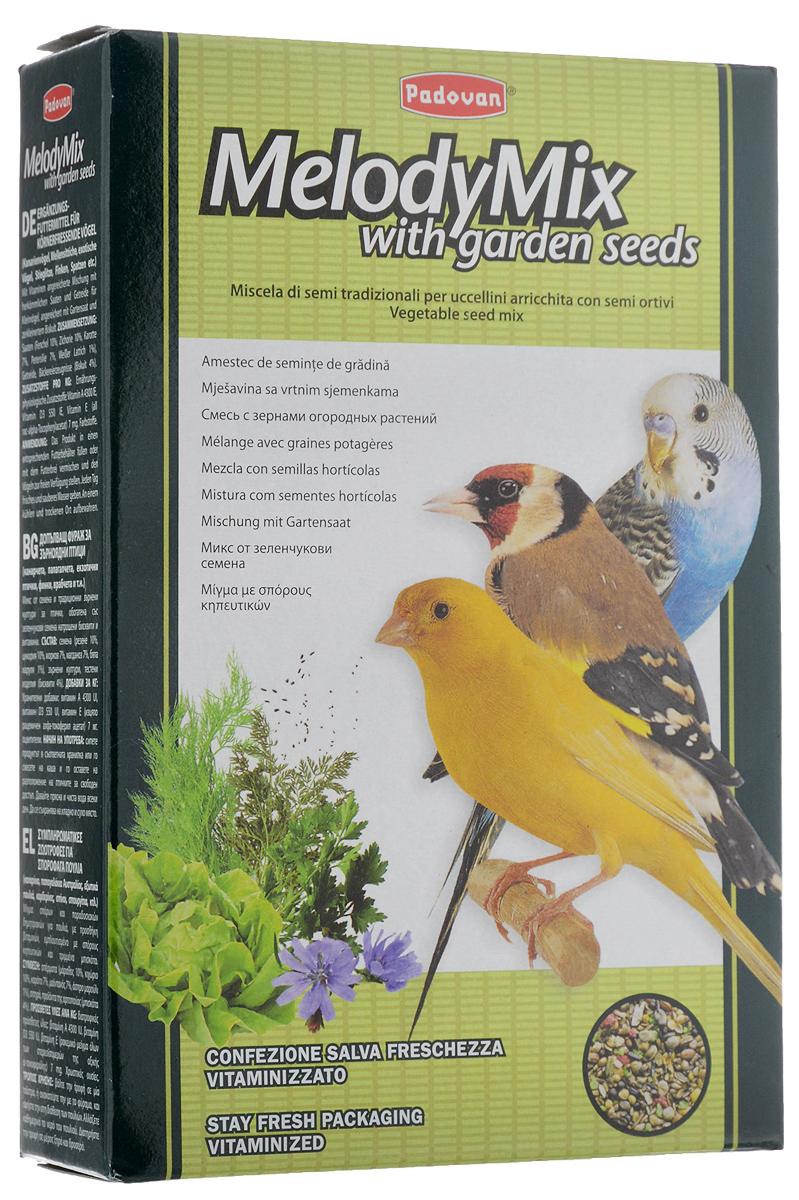 Корм Padovan MelodyMix для зерноядных птиц, 300 г16798Padovan MelodyMix - дополнительный корм для канареек, маленьких попугаев, маленьких экзотических птиц, щеглов, зябликов, воробьев и других зерноядных птиц. Смесь луговых и дикорастущих семян, обладающая высокими стимулирующими свойствами, восстанавливает, укрепляет и очищает дыхательную систему - пение становиться более ярким, насыщенным и звонким.Товар сертифицирован.
