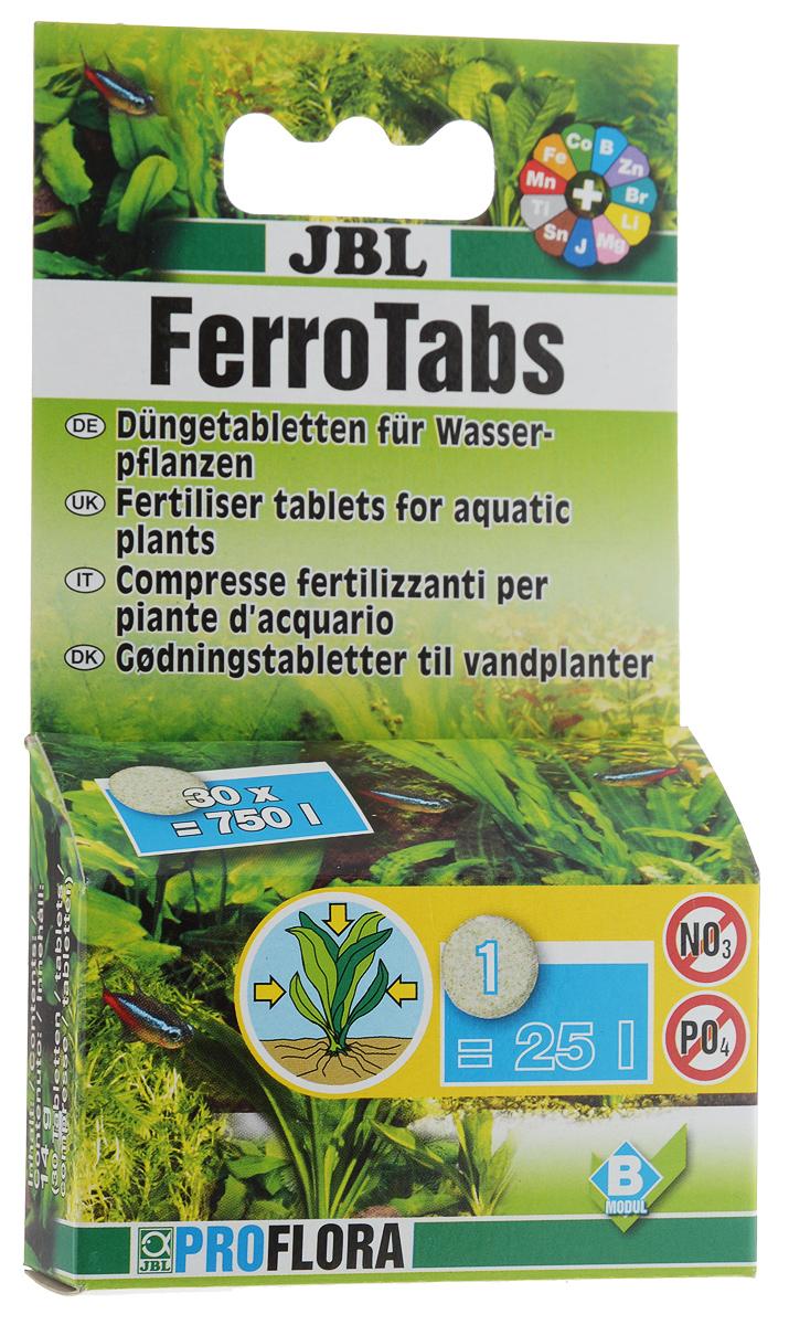 Удобрение для аквариумных растений JBL Ferrotabs, концентрат, 30 таблеток0120710Комплексное удобрение JBL Ferrotabs для усвоения питательных веществ растениями через листья, содержит железо, калий и другие ценные минеральные вещества и микроэлементы в доступной для растений форме. Удобрение не содержит нитратов и фосфатов, способствующих росту водорослей.Способ применения:1 таблетка на 25 л аквариумной воды через каждые 14 дней.Количество таблеток: 30 шт.