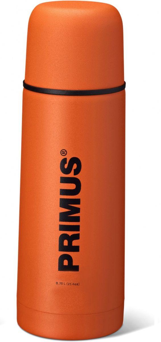 Термос Primus C&H Vacuum Bottle, цвет: оранжевый, 750 мл. P737830P737830Термос имеет двойные стенки, изготовлен из нержавеющей стали и покрыт износостойкой порошковой краской.C & H в названии модели - это холодный и горячий, что означает, что благодаря своим превосходным возможностям теплоизоляции, термос способен поддерживать температуру холодных и горячих напитков в течении нескольких часов. Комбинированная крышка, сочетающая в себе кружку, компактный и легкий дизайн, удобный клапан с функцией Quick-stop делают термос Primus C&H Vacuum Bottle максимально удобным и функциональным. Его легко расположить как внутри рюкзака, так и в боковом кармане.Объем термоса: 750 мл.
