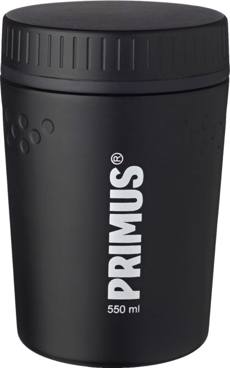 Термос Primus TrailBreak Lunch Jug, цвет: черный, 550 мл. P737944P737944Термос изготовлен из нержавеющей стали. Двойные стенки с вакуумом между ними помогают надолго сохранить изначальную температуру продуктов. Крышка - 100% герметична, поэтому термос можно не опасаясь носить в сумке или рюкзаке. Благодаря новой конусообразной форме термос стало еще легче и удобнее убирать в наполненный вещами рюкзак.Объем термоса: 550 мл.
