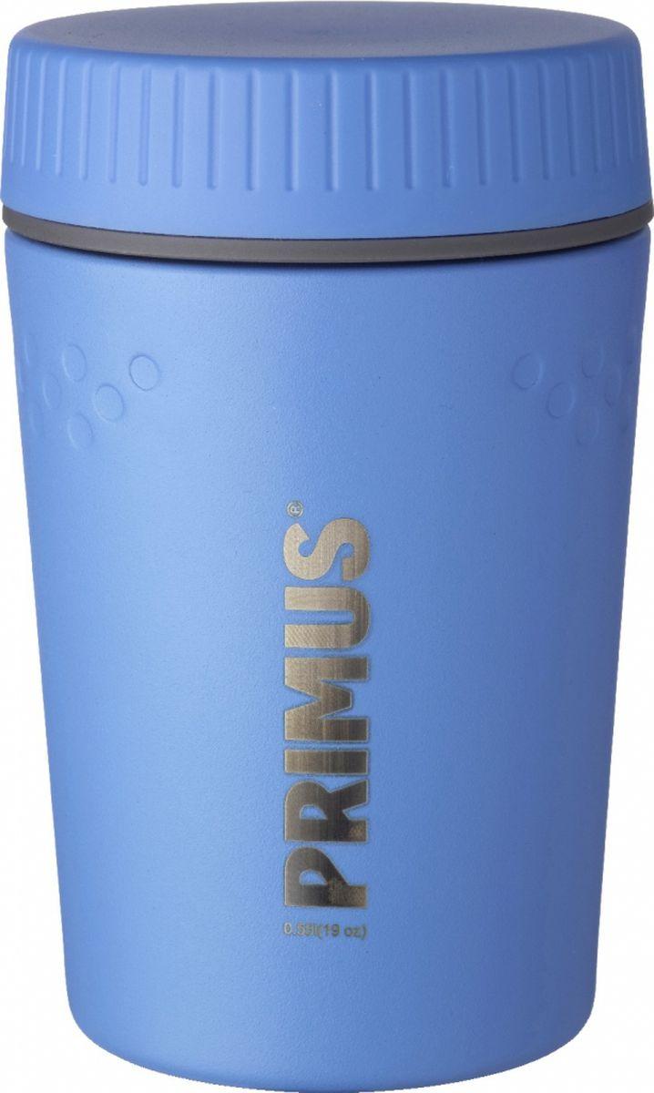 Термос Primus TrailBreak Lunch Jug, цвет: синий, 550 мл. P737950P737950Термос изготовлен из нержавеющей стали. Двойные стенки с вакуумом между ними помогают надолго сохранить изначальную температуру продуктов. Крышка - 100% герметична, поэтому термос можно не опасаясь носить в сумке или рюкзаке. Благодаря новой конусообразной форме термос стало еще легче и удобнее убирать в наполненный вещами рюкзак.Объем термоса: 550 мл.