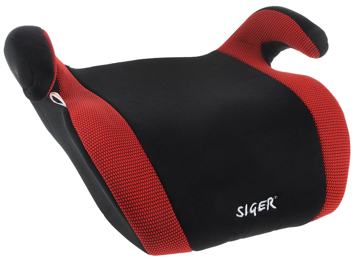 Siger Бустер Мякиш плюс цвет красный черный от 22 до 36 кг690555Автокресло Siger Мякиш плюс относится к возрастной группе 3, для детей от 6 до 12 лет, весом от 22 до 36 кг.В основе кресла Siger Мякиш плюс усиленный каркас. Износостойкий съемный чехол выполнен из нетоксичного гипоаллергенного материала, легко стирается. Ортопедическая форма сиденья создает дополнительное удобство во время поездки.Детские удерживающие устройства Siger разработаны и изготовлены в России с учетом анатомии российских детей. Увеличенное посадочное место обеспечивает удобство в поездке, как в летней, так и в зимней одежде.Автокресло успешно прошло все необходимые тесты и имеет сертификат соответствия техническому регламенту РФ и таможенному союзу.