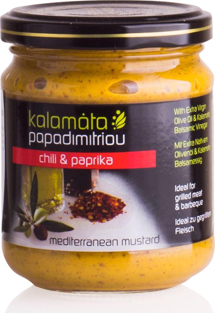 Papadimitriou горчица с оливковым маслом и бальзамическим уксусом, 200 г0120710Мягкая горчица с оливковым маслом в удобной упаковке. Kalamata Papadimitriou является ведущим брендом соусов и уксусов в Греции и экспортируется в разные страны по всему миру.