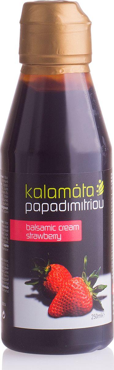 Papadimitriou бальзамический соус с клубникой, 250 мл4604248012618Неожиданное сочетание вкуса клубники и бальзамического соуса станет пикантным дополнением к вашему блюду.