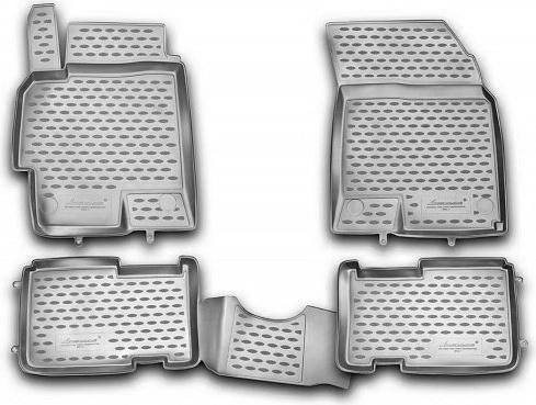 Набор автомобильных ковриков Novline-Autofamily для Hyundai Solaris 2010-2014, в салон, цвет: серый, 4 штВетерок 2ГФНабор автомобильных ковриков Novline-Autofamily, изготовленный из полиуретана, состоит из 4 ковриков, которые учитывают все особенности каждой модели автомобиля и полностью повторяют контуры пола. Полиуретановые автомобильные коврики для салона произведены из высококачественного материала, который держит форму, прочный и не пачкает обувь. Коврики в салон не только улучшат внешний вид салона вашего автомобиля, но и надежно уберегут его от пыли, грязи и сырости, а значит, защитят кузов от коррозии. Полиуретановые коврики для автомобиля гладкие, приятные и не пропускают влагу. Ковры для автомобилей надежно крепятся на полу и не скользят, что очень важно во время движения. Чистятся коврики очень просто: как при помощи автомобильного пылесоса, так и различными моющими средствами. Набор подходит для Hyundai Solaris 2010-2014 годов выпуска.