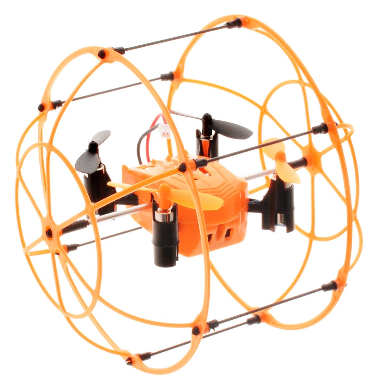 """Квадрокоптер на радиоуправлении От винта! """"Fly-0246"""" доставит много радости и позитивных эмоций не только детям, но и взрослым. Квадрокоптер работает от сменного аккумулятора, который перед запуском игрушки необходимо зарядить (зарядное устройство входит в комплект, время зарядки составляет 60 минут). Квадрокоптер можно использовать как в просторном помещении без препятствий, так и на улице в теплую, солнечную и безветренную погоду. Высокотехнологичный встроенный 6-осевой гироскоп стабилизирует квадрокоптер при запуске двигателя после броска или при столкновении. Модель имеет уникальную возможность передвижения по полу, стенам и потолку. Ударопрочный корпус игрушки выполнен из легкого, эластичного материала, который надежно защити модель от повреждений при столкновениях. При падении квадрокоптер подпрыгнет как мячик от пола без каких-либо поломок! Квадрокоптер движется во всех направлениях, обладает боковым полетом, поворачивает на 360 градусов. Имеет два режима скорости и..."""