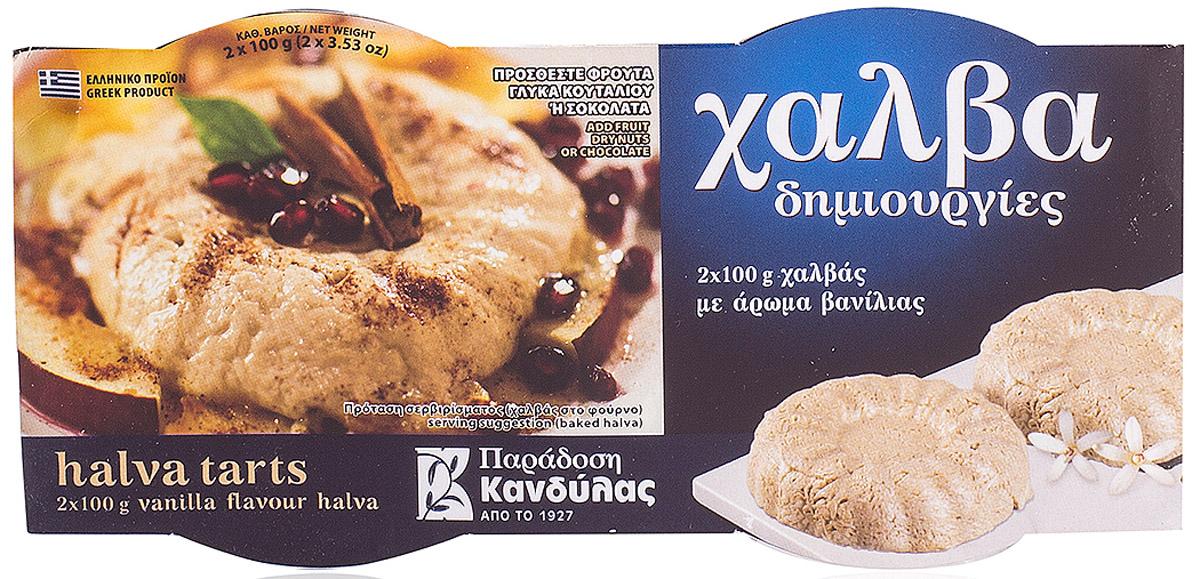 Kandylas халва ваниль, 2 шт по 100 г13.0010Греческие сладости - халва кунжутная с ванилью.