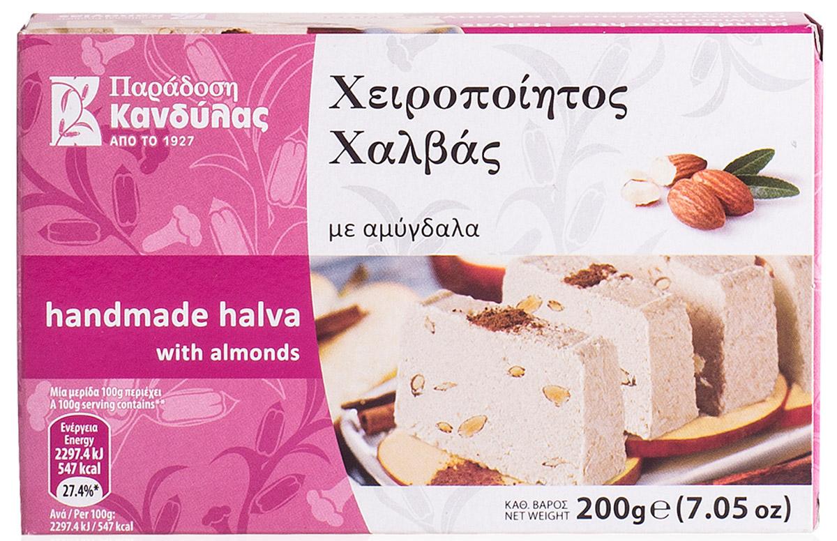 Kandylas халва с миндалем, 200 г0120710Греческие сладости - халва кунжутная с миндалем.