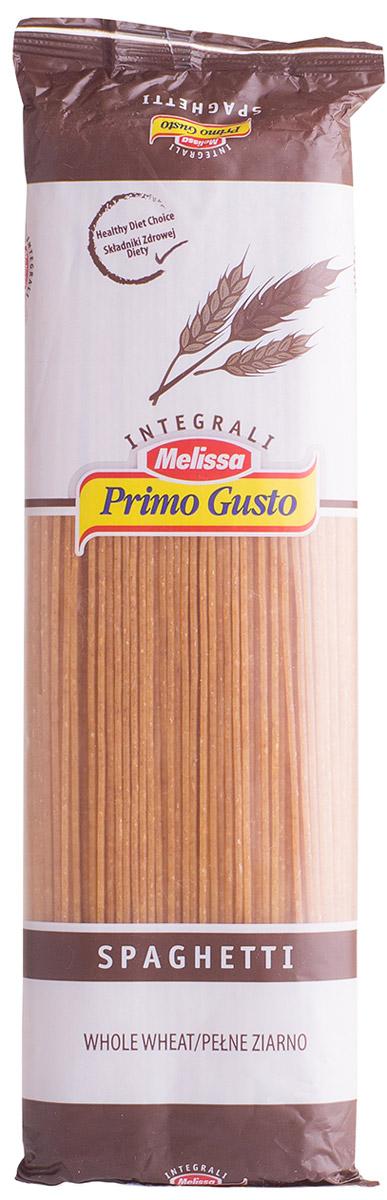 Melissa-Primo Gusto спагетти коричневые, 500 г14.0003Макаронные изделия Melissa Primo Gusto производятся исключительно из семолины - муки твердых сортов пшеницы специального (грубого) помола.Семолина используется для приготовления пасты, каши, пудингов и кускуса.