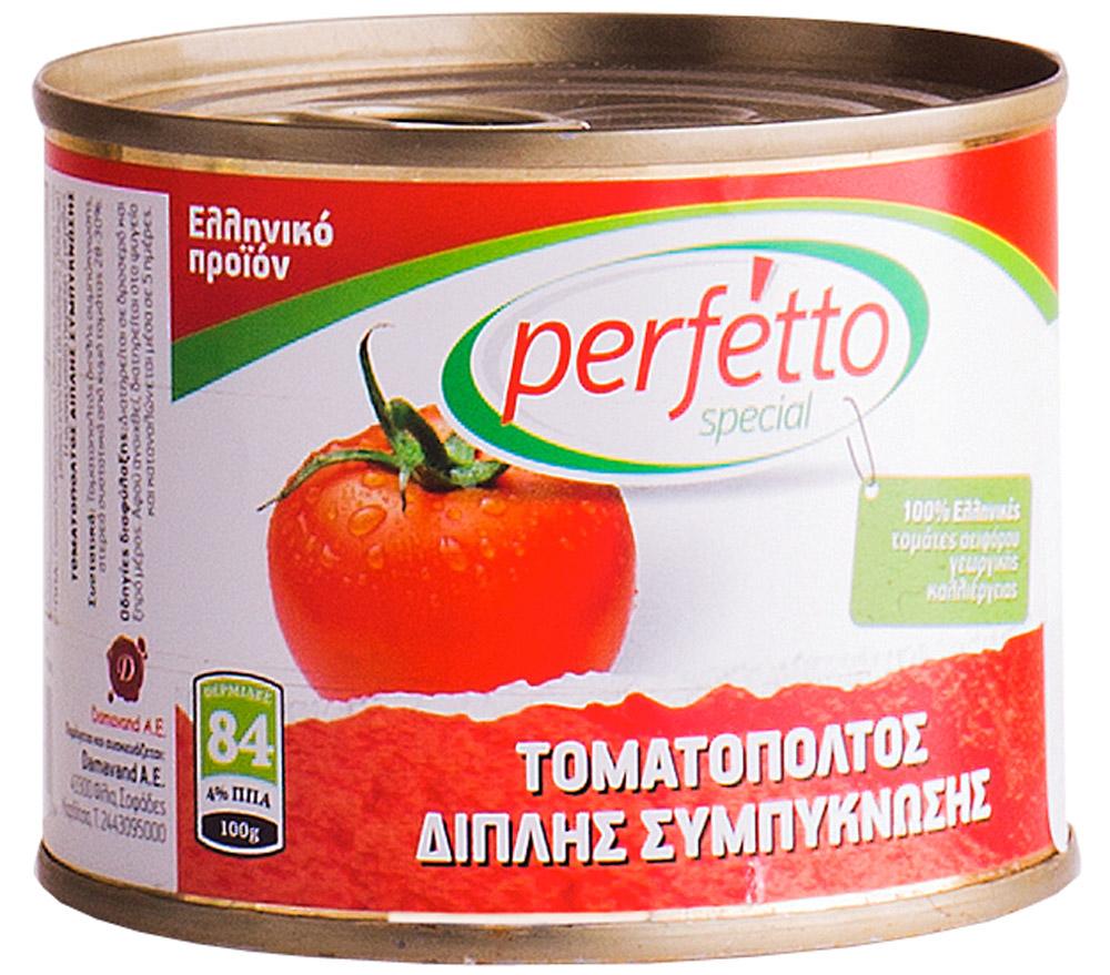 Perfetto specia Паста томатная, 200 г5499Произведено в Греции из отборных греческих томатов. Без консервантов.