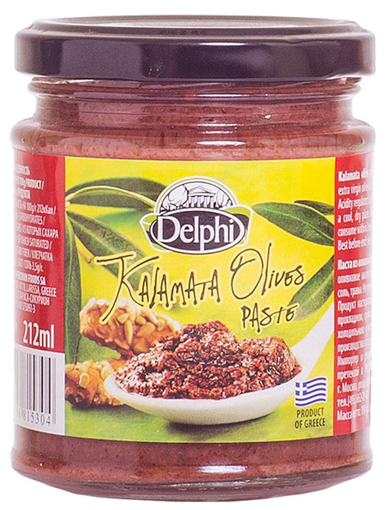Delphi Паста из оливок Каламата, 190 г51.0045,1Потрясающий и уникальный в своем роде греческий продукт, приготовленный по традиционным рецептам. Натуральная паста из оливок Каламата в своем составе имеет измельченные оливки и высококачественное оливковое масло. Оливки насыщают ваш организм полезными веществами, которые придают бодрость и обеспечивают вас здоровьем на долгие годы. Вкусная паста придаст неповторимый пикантный оттенок практически любым горячим блюдам и сэндвичам. Добавьте немного пасты к вашему любимому бутерброду или даже в омлет и порадуйте себя новым завтраком или интересным пикником с друзьями!