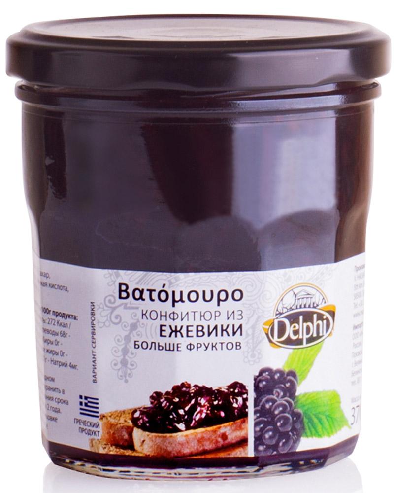 Delphi Конфитюр из ежевики V. Halvatzis, 370 г1093Конфитюр из свежих ягод ежевики - это истинная сладость и наслаждение. Продукт не содержит искусственных красителей и ГМО.