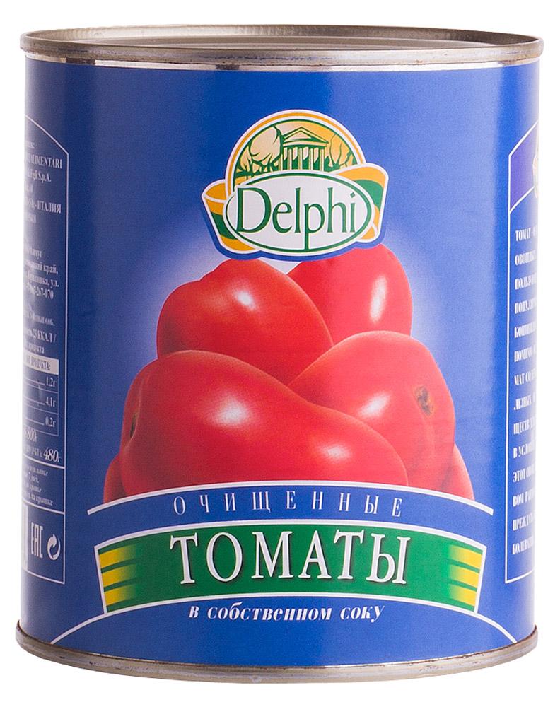 Delphi Томаты очищенные в собственном соку, 800 г0120710Томат - одна из известнейших овощных культур в мире. Пользующаяся заслуженной популярностью на всех континентах. Помимо отличного вкуса томат содержит множество полезных и питательных веществ для нашего организма. В условиях городской жизни этот овощ незаменим в пищевом рационе, помогая предупреждать онкологические заболевания.