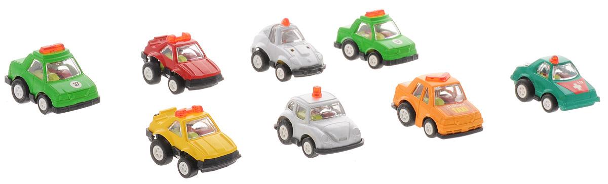 Дрофа-Медиа Набор инерционных машинок Полиция 8 шт дрофа медиа набор инерционных машинок speedy cars 8 шт