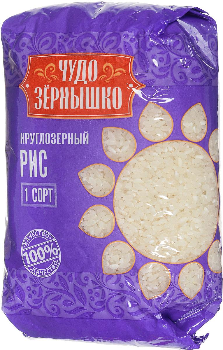 Чудо Зернышко Рис круглозерный 1 сорт, 800 г