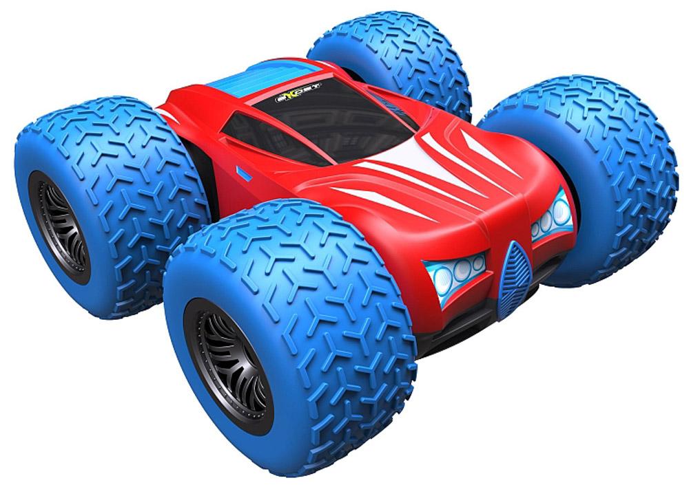 """Машина на радиоуправлении Silverlit """"360 Кросс"""" - это машинка-перевёртыш. Это значит, что она одинаково хорошо ездит в обычном положении и вверх тормашками. Кроме того, этот внедорожник в масштабе 1:18 может вращаться на одном месте на 360°. Игрушка быстро развивает скорость до 12 км/ч. Дистанция действия пульта управления - 15 метров. Играть с машинкой """"360 Кросс"""" очень интересно, потому что: Она отлично ездит по любому покрытию: пол, асфальт, бетон, щебёнка, газон; Ее шины очень большие, а расположены они так, что при столкновении или падении игрушки они принимают удар на себя, автомобиль практически не получает повреждений; Машинку-перевертыш можно даже спустить с лестницы: машинка будет переворачиваться на каждой ступеньке и """"шагать"""" вниз; При резком старте или при наезде на невысокое препятствие """"360 Кросс"""" совершает переворот. Для работы игрушки необходимы 4 батарейки типа АА напряжением 1,5V (не входят в комплект). ..."""