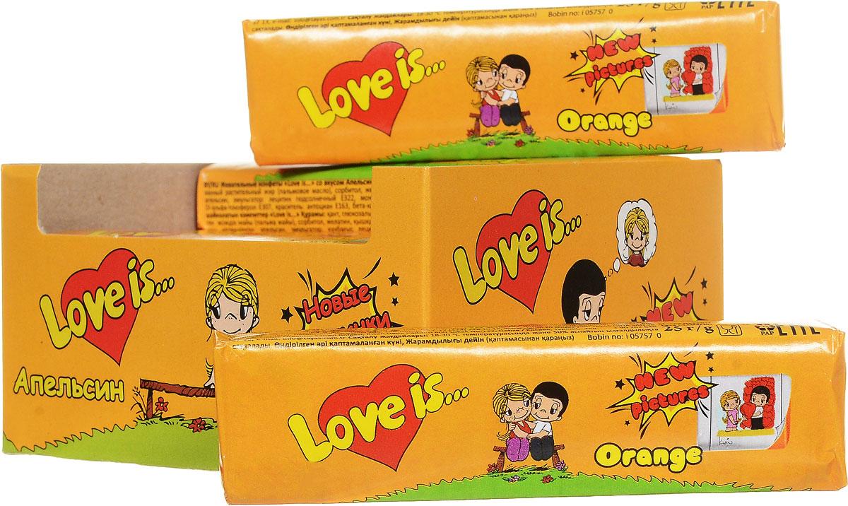 Love is Апельсин жевательные конфеты, 12 шт0120710Love is Апельсин - это ириски-стики с нежным апельсиновым вкусом. В каждой конфете содержится 5 вкладышей с героями Love is.Блок из 12 конфет - отличный подарок или сюрприз для любимых.