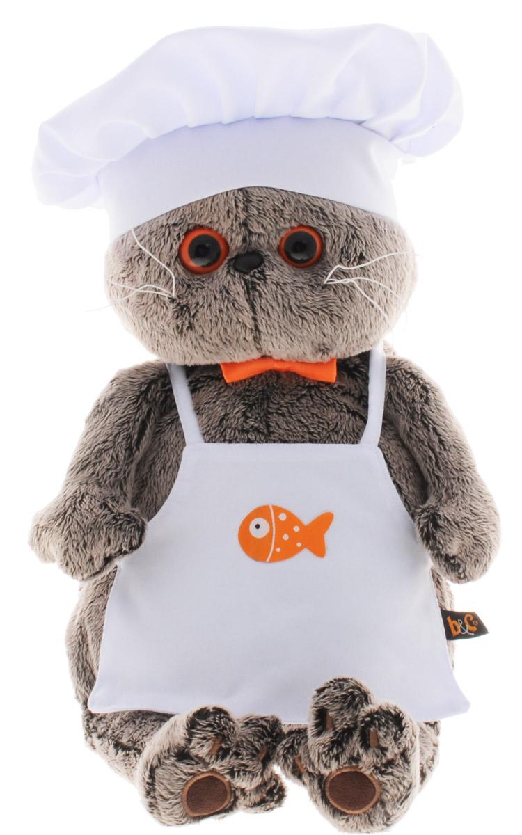 Мягкая игрушка Басик шеф-повар 30 см basik & ко мягкая игрушка басик в дафлкоте 22 см