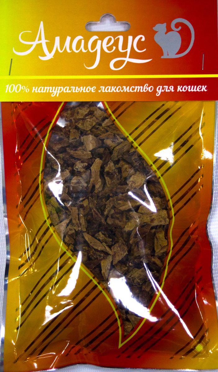 Лакомство для кошек Амадеус Легкое говяжье, 50 г0462Лакомство для кошек Амадеус Легкое говяжье - 100% натуральный продукт почти без запаха, а также без содержания химических добавок. При сушке не использовались отбеливатели и консерванты. Лакомство изготавливается из тщательно отобранного и проверенного высококачественного отечественного сырья. Содержит низкокалорийный, легкоусвояемый, гипоаллергенный белок. Продукт богат витаминами и ферментами микрофлоры желудка жвачных животных.Рекомендовано для профилактики витаминного и ферментного дефицита у собак и кошек всех пород и возрастов. Товар сертифицирован.