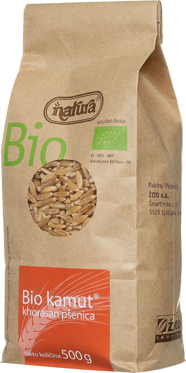 Zito Natura Bio Крупа камут органический, 500 г0120710Хорасанская пшеница - это заново открытая древняя злаковая культура, выращиваемая древними египтянами около 4000 лет назад. Может употребляться вместо пшеницы или спельты. Так как она имеет легкий сладкий привкус, то при выпечке не требуется добавление сахара. Употреблять с молоком или фруктами, а также в качестве добавки к тушеным блюдам.Органические продукты Natura имеют маркировку в соответствии с законодательством и европейскую экологическую маркировку сертифицированных органических продуктов питания, так как при их производстве не используются удобрения и распылители, запрещенные в органическом производстве и обработке. Органические продукты произведены под контролем SI - EKO - 001.Органические продукты Natura производятся в регионах, где природа пока еще живет своей жизнью. Они попадают на полки магазинов и на столы людей, выбирающих здоровое питание, в той же форме, в которой их создала природа: натуральными, питательными и здоровыми. Разнообразные натуральные зерна и семена обладают всеми свойствами злаков, полностью сохраняя, таким образом, свои полезные качества.