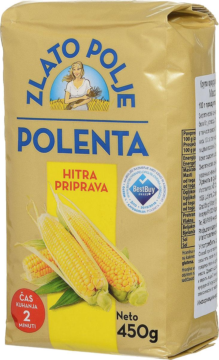 Zito Zlato Polje Крупа кукурузная полента, 450 г0120710Полента - это мелкая кукурузная крупа, идеально подходящая для приготовления диетических блюд или блюд для детей. Кроме того, она создаст атмосферу традиционной домашней кухни, так как из нее легко и просто готовить полезные и вкусные блюда.Крупа кукурузная Zito Zlato Polje может содержать следы глютена.