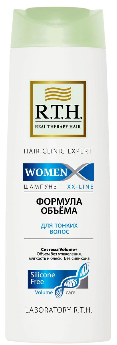 Шампунь R.T.H. Women Формула объема8906015080223Шампунь без силикона деликатно очищает и придает заметный объем. Система Volume+ укрепляет тонкие волосы, уплотняет волосы по всей длине, защищает их и облегчает укладку.