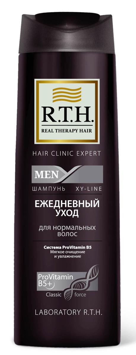 Шампунь R.T.H. Men Ежедневный уход81570397Эффективно очищает и увлажняет волосы и кожу головы. Протеин в составе формулы защищает структуру волос и предотвращает сухость кожи головы при ежедневном использовании. Шампунь восстанавливает волосы, обеспечивает естественное увлажнение и защищает от последующих негативных воздействий окружающей среды.