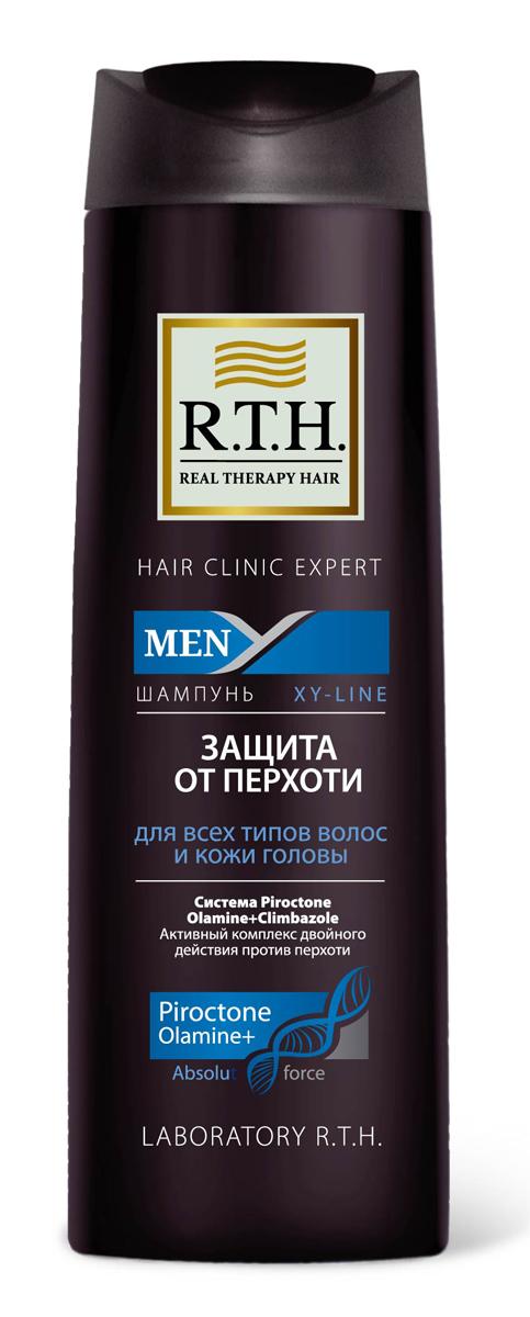 Шампунь R.T.H. Men Защита от перхоти4604903000172Предназначен для чувствительной кожи головы и волос, подверженных появлению перхоти. Содержит Гликолевую кислоту, которая оказывает эффект деликатного пилинга, благодаря очищению волос и кожи головы от омертвевших чешуек кожи. Шампунь от перхоти содержит двойной комплекс активных компонентов, таких как синергетически подобранная смесь изпротивоперхотных препаратов: Пироктоноламина и Климбазола. Шампунь не только устраняет перхоть, но и предотвращает еепоявление.