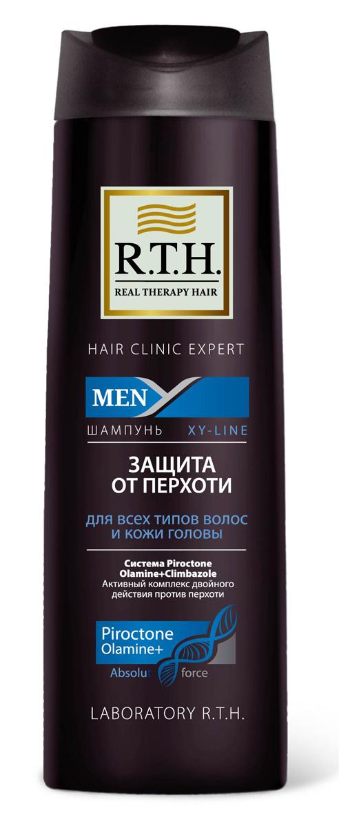 Шампунь R.T.H. Men Защита от перхоти4604903000189Предназначен для чувствительной кожи головы и волос, подверженных появлению перхоти. Содержит Гликолевую кислоту, которая оказывает эффект деликатного пилинга, благодаря очищению волос и кожи головы от омертвевших чешуек кожи. Шампунь от перхоти содержит двойной комплекс активных компонентов, таких как синергетически подобранная смесь изпротивоперхотных препаратов: Пироктоноламина и Климбазола. Шампунь не только устраняет перхоть, но и предотвращает еепоявление.