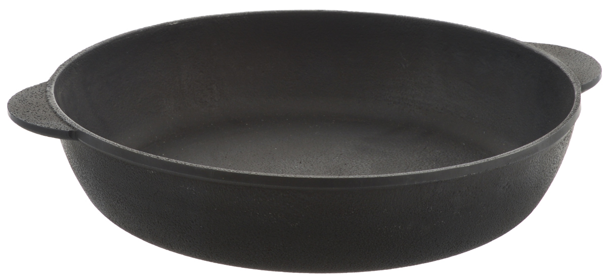 Сотейник чугунный Берлика. Диаметр 28 смБР2860Сковорода Берлика, изготовленная из натурального экологически безопасного чугуна, оснащена двумя ручками. Чугун является одним из лучших материалов для производства посуды. Его можно нагревать до высоких температур. Он очень практичный, не выделяет токсичных веществ, обладает высокой теплоемкостью и способен служить долгие годы. Такая сковорода замечательно подойдет для приготовления жаренных и тушеных блюд. Подходит для всех типов плит, включая индукционные. Можно использовать в духовке. Не рекомендуется мыть в посудомоечной машине.Ширина сковороды (с учетом ручек): 33,5 см.Высота стенки: 6 см.